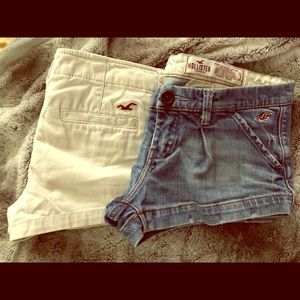 2 pairs of Hollister shorts
